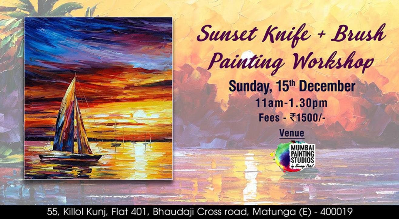 Sunset Knife + Brush Painting Workshop in Mumbai