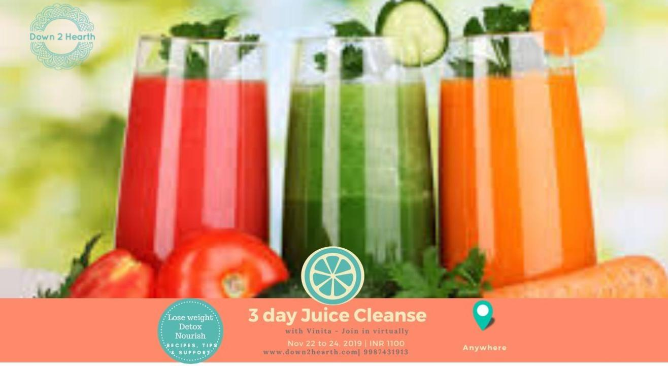 3 day Juice Cleanse- Online