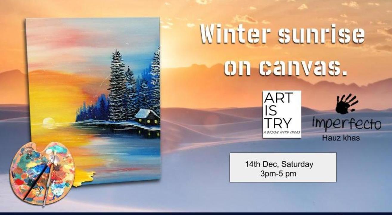 Winter Sunrise on Canvas