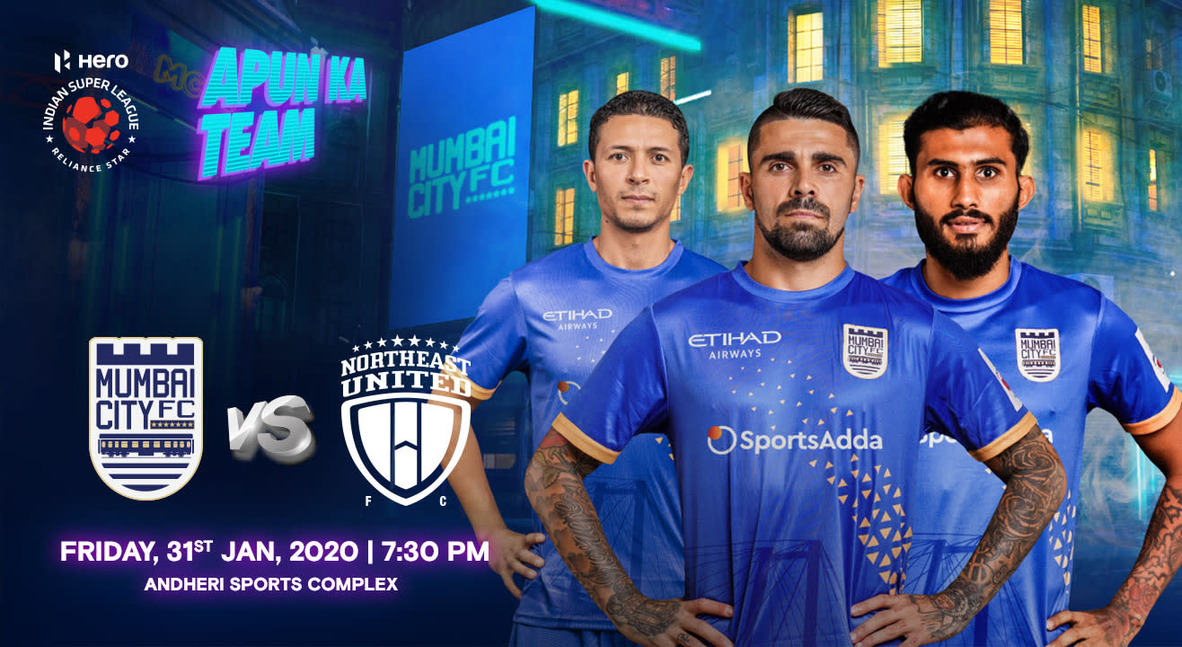 HERO Indian Super League 2019-20: Mumbai City FC vs NorthEast United FC