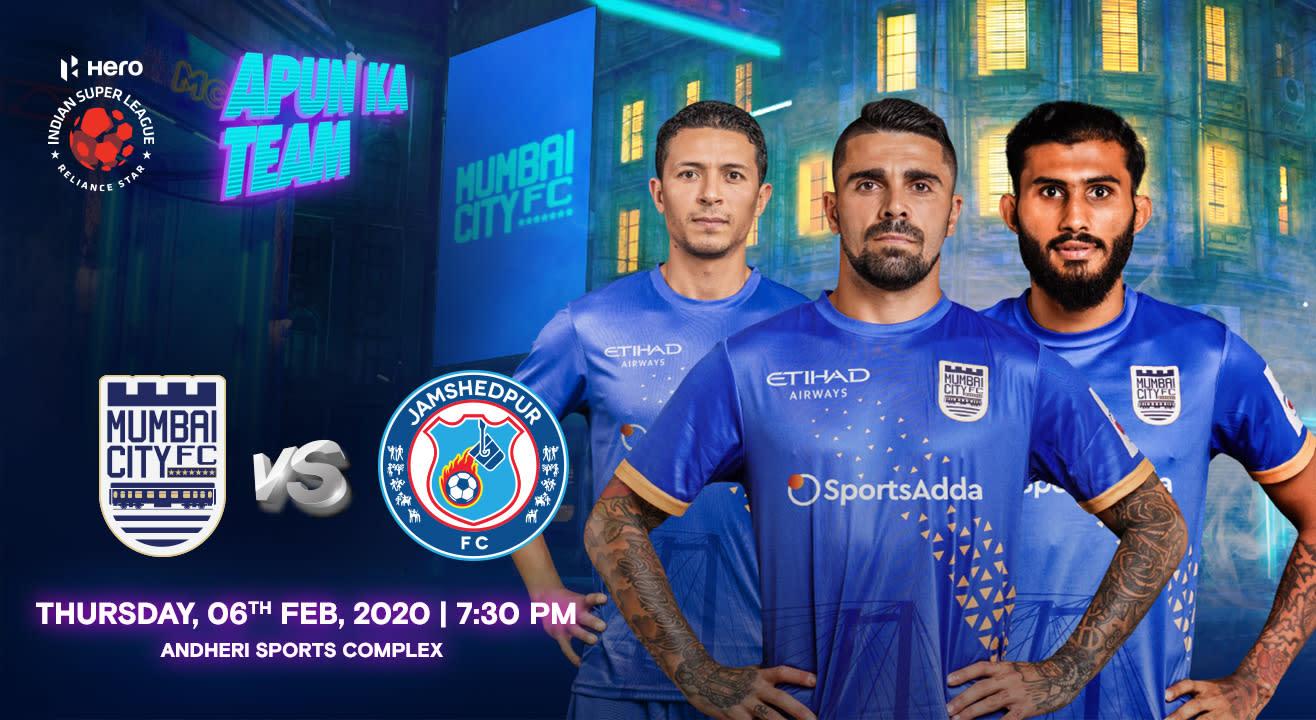 HERO Indian Super League 2019-20: Mumbai City FC vs Jamshedpur FC