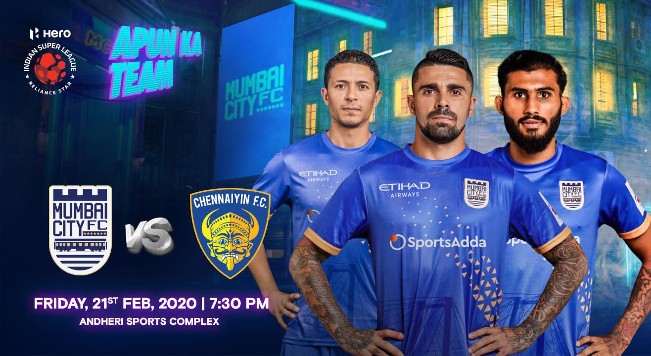 HERO Indian Super League 2019-20: Mumbai City FC vs Chennaiyin FC