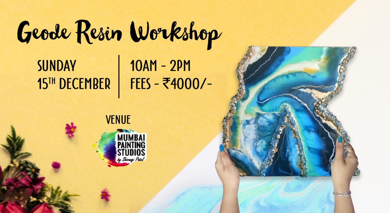 Geode Resin Art Workshop in Mumbai