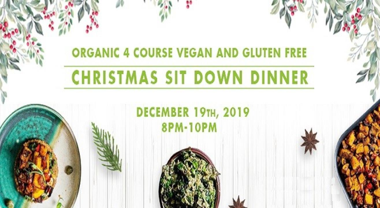 Organic 4 Course Vegan and Gluten Free Plant Based Christmas Sit Down Dinner