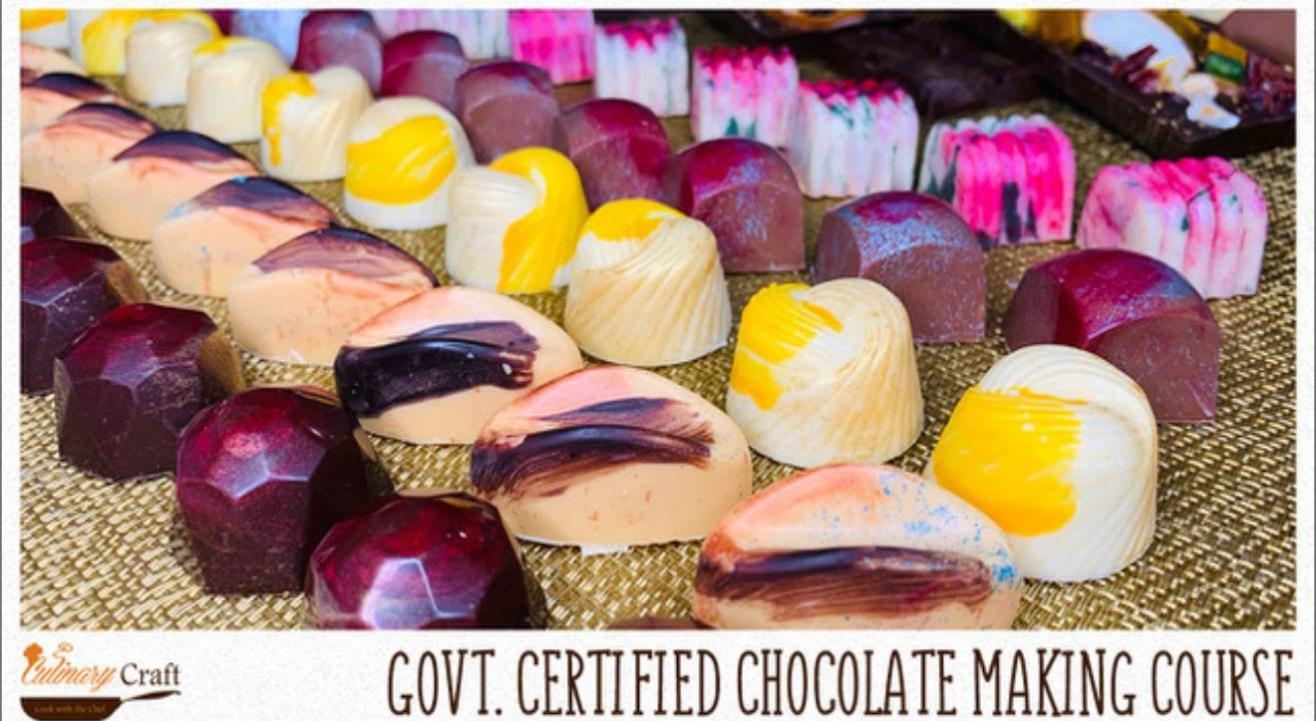 GOVERNMENT CERTIFIED CHOCOLATE MAKING COURSE