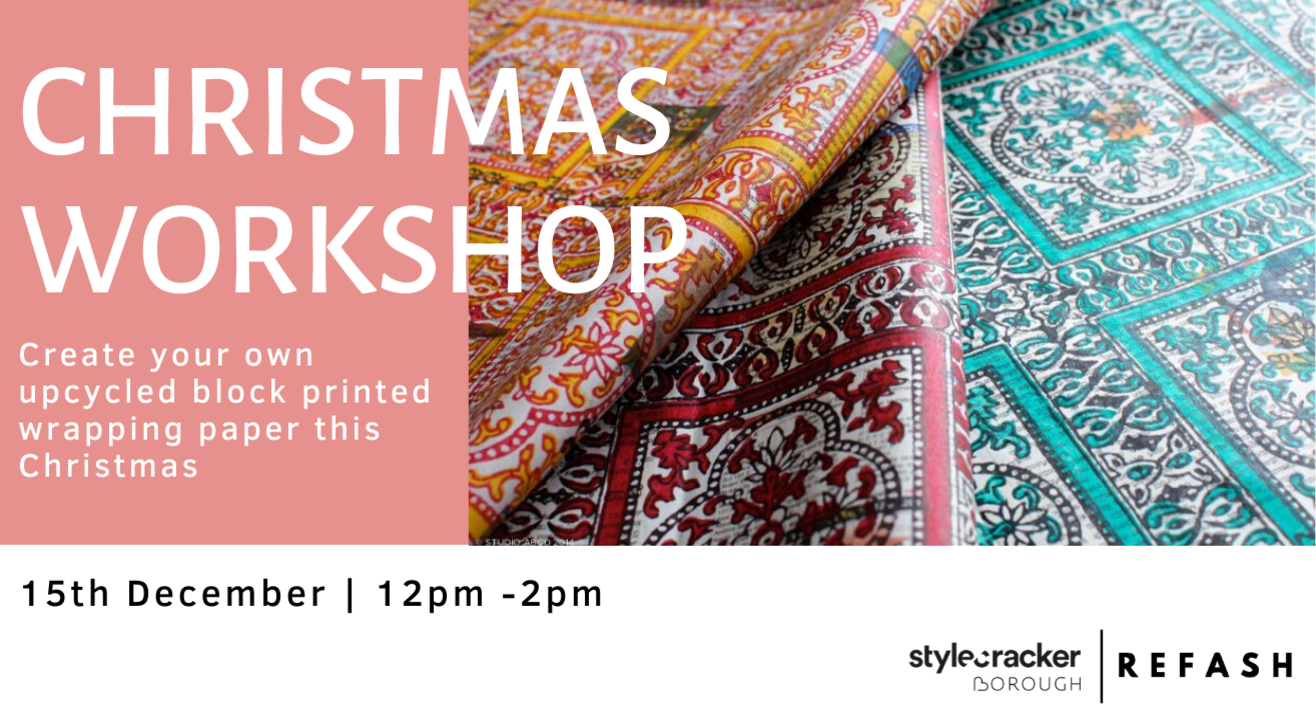Christmas Workshop: Create your own block printed wrapping paper