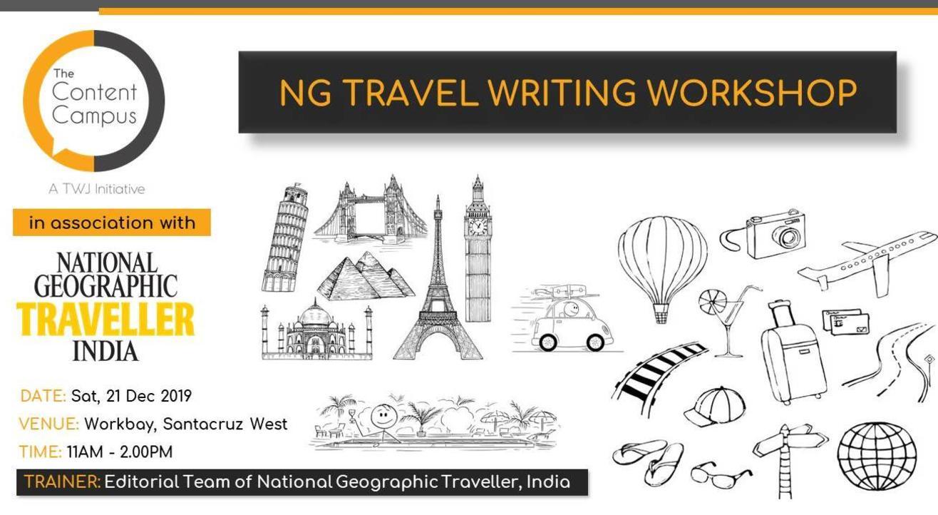 NAT GEO MASTERCLASS ON TRAVEL WRITING
