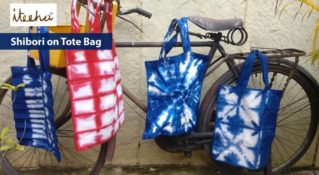 Shibori on Tote Bag