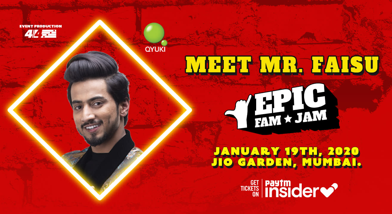Meet Mr. Faisu @ Epic Fam Jam | Mumbai | LIVE CONCERT