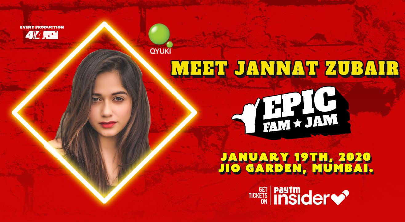Meet Jannat Zubair @ Epic Fam Jam | Mumbai | LIVE CONCERT