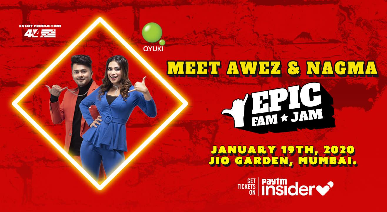 Meet Awez & Nagma @ Epic Fam Jam | Mumbai | LIVE CONCERT