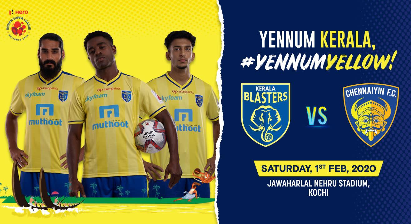 Hero Indian Super League 2019-20: Kerala Blasters FC vs Chennaiyin FC