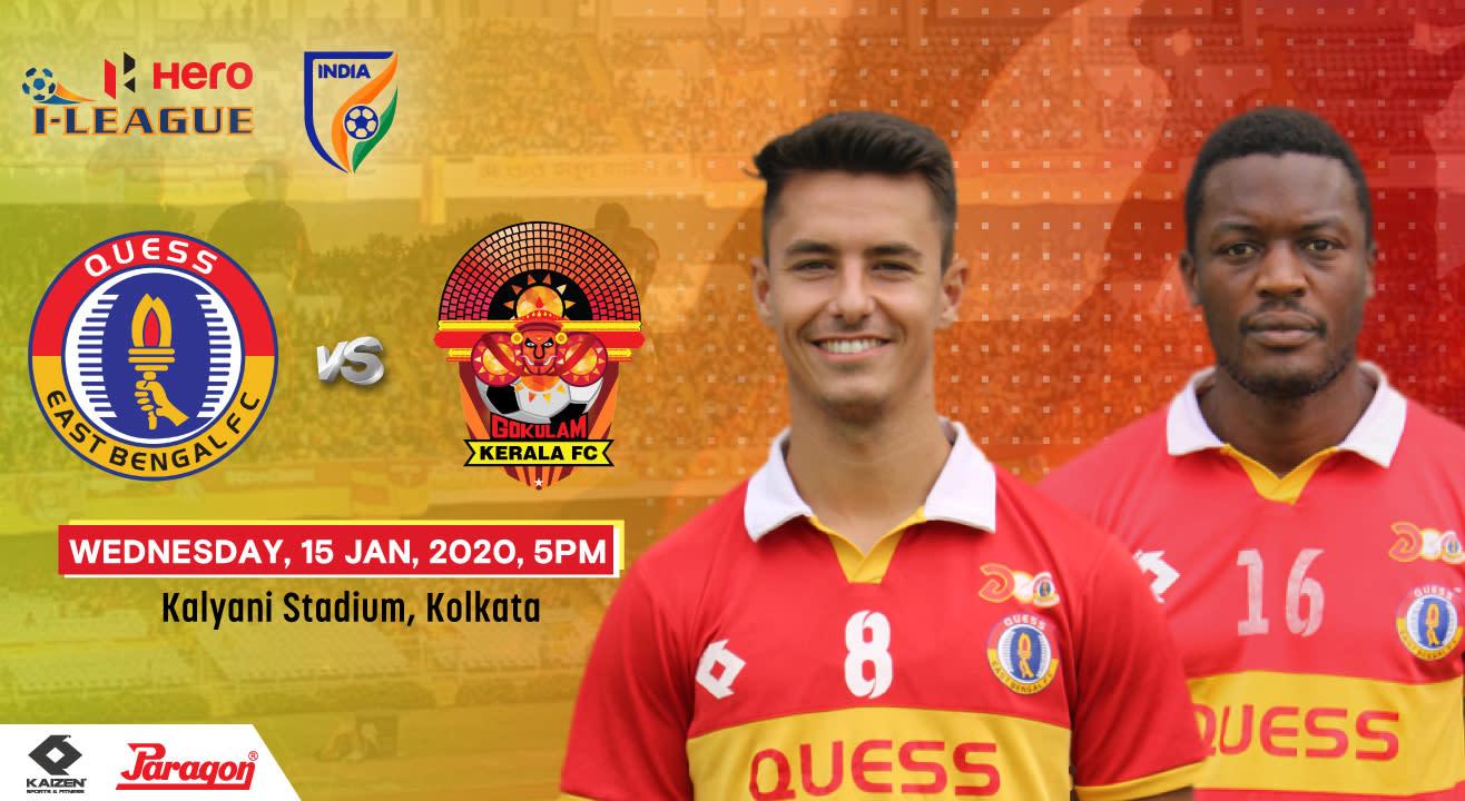 Hero I League 2019-20 - Quess East Bengal FC vs Gokulam Kerala FC