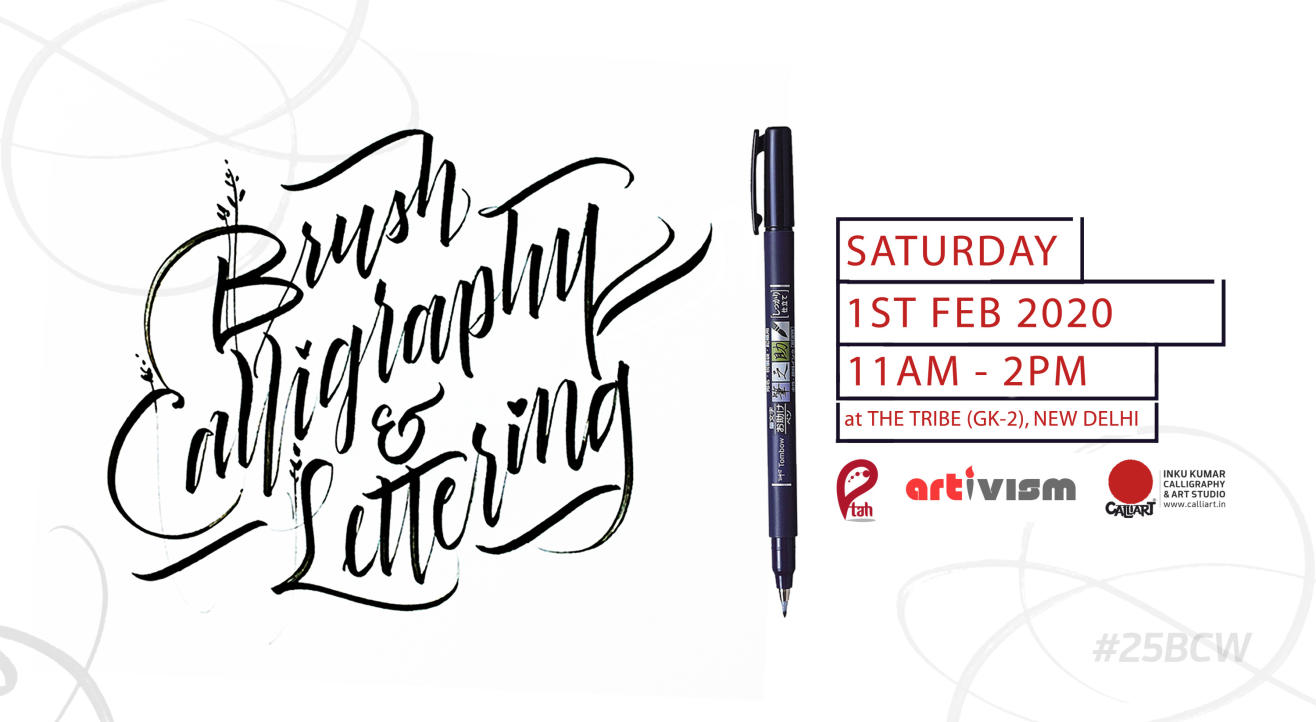Brush Calligraphy & Lettering Workshop with Inku Kumar