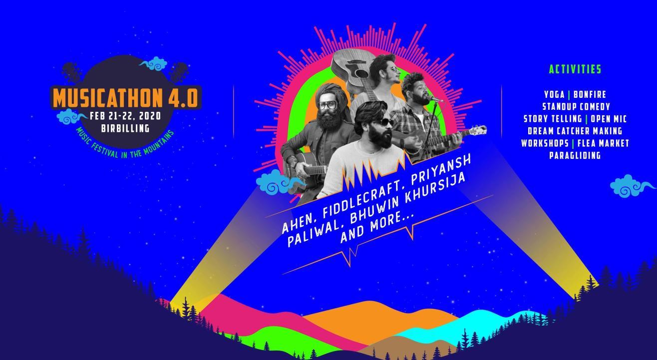 Musicathon Bir  - A music festival in the mountains