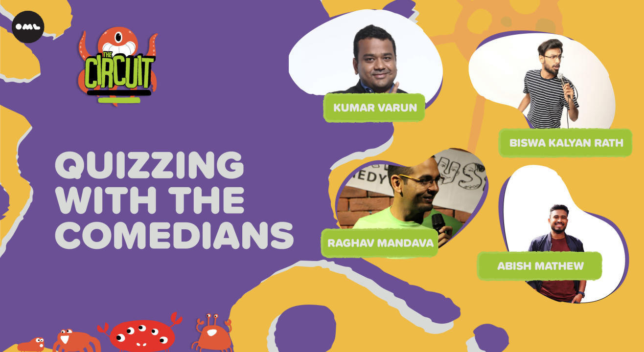Quizzing with Comedians ft. Biswa, Abish, Kumar Varun & Madhav   The Circuit Comedy Festival, Delhi