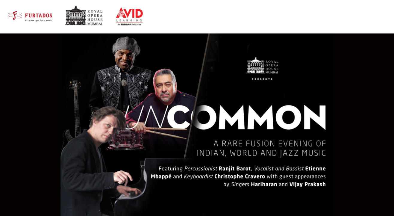 UnCommon: A Rare Fusion Evening of Indian, World and Jazz Music