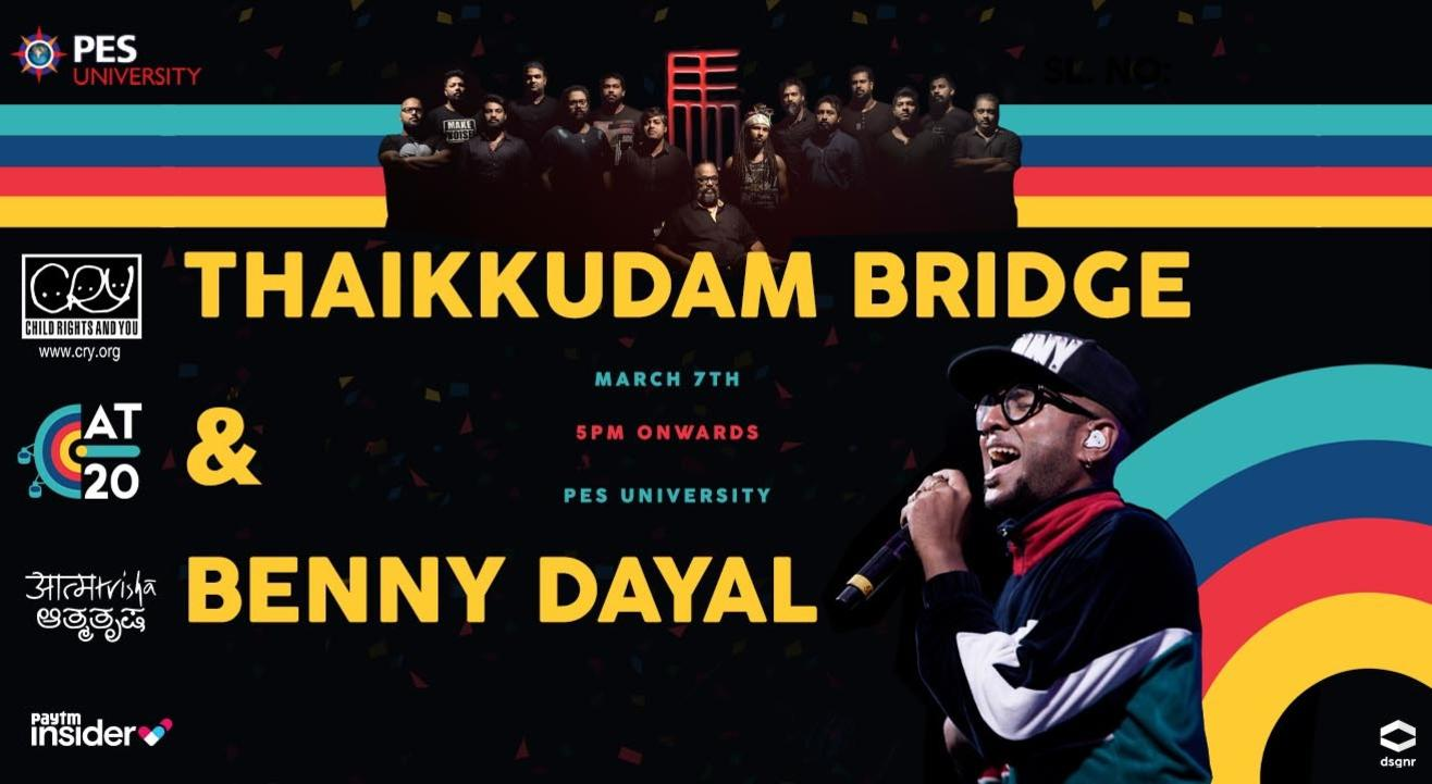 Thaikkudam Bridge and Benny Dayal Live at Aatmatrisha 2020