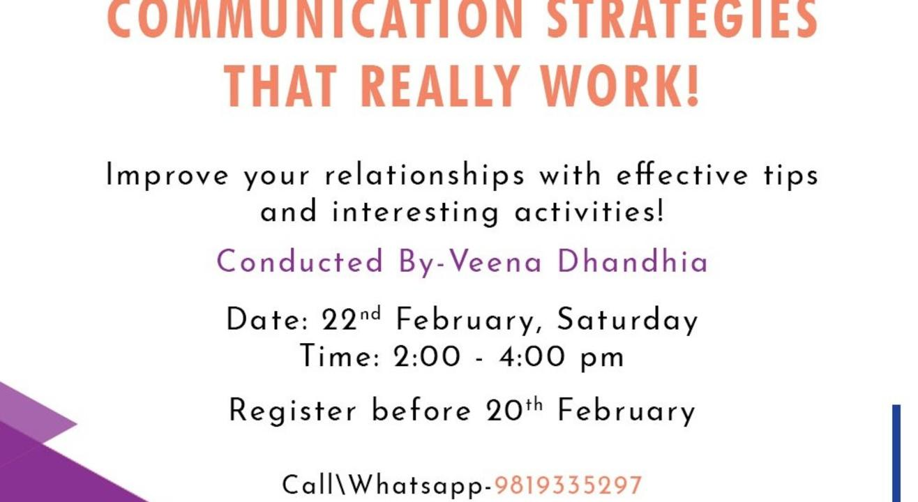 Communication strategies that really work!