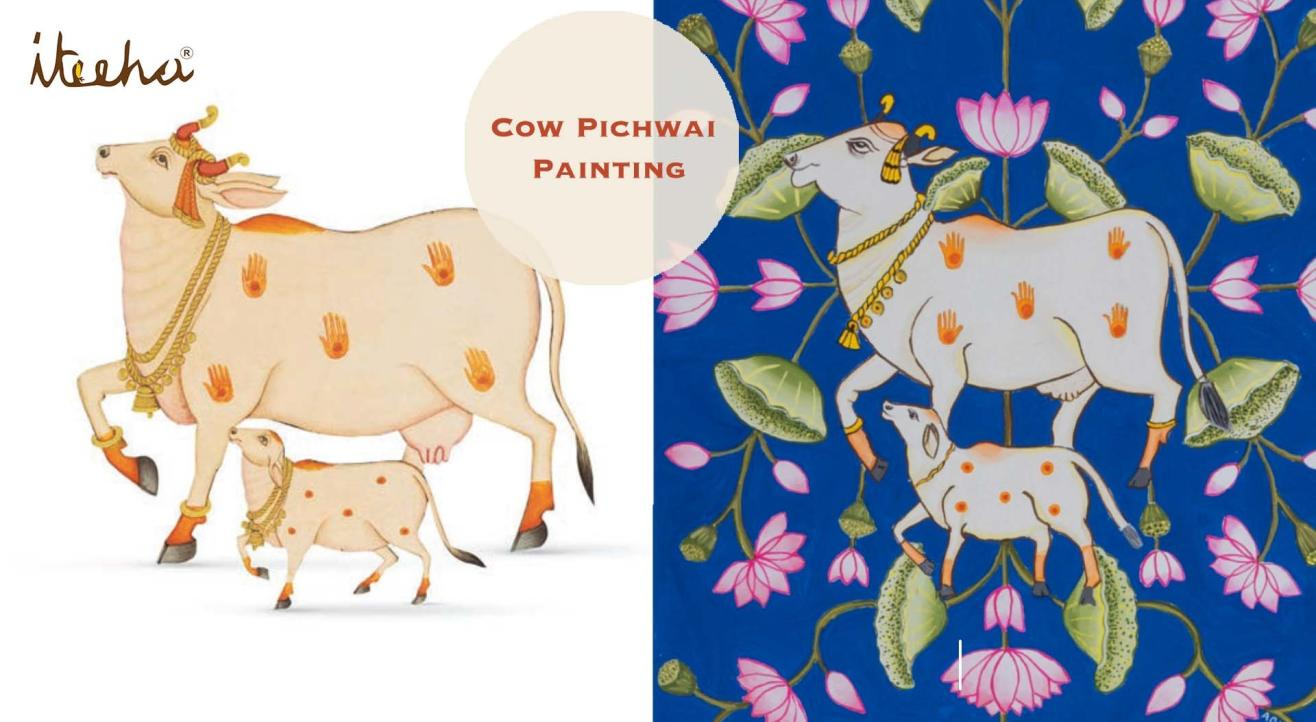 Cow Pichwai Painting