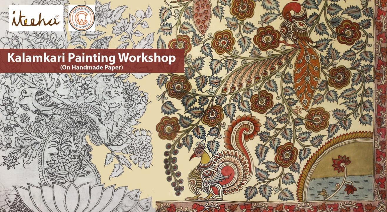 Kalamkari Painting On Handmade Paper