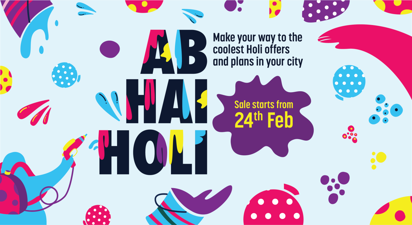 Check out events and parties for Holi 2020