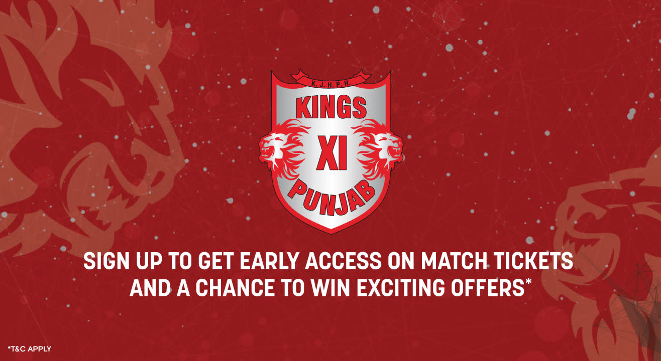VIVO IPL 2020: Kings XI Punjab - Sign up for early access to Home Game tickets!
