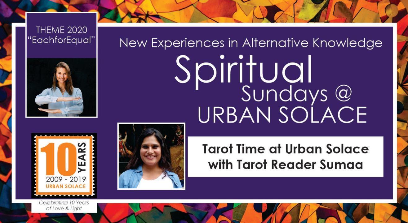 """Spiritual Sundays at Urban Solace """"Tarot Time with Sumaa"""""""
