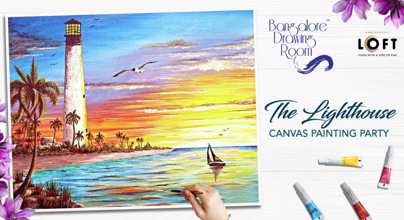 The Lighthouse Canvas Painting Party by Bangalore Drawing Room