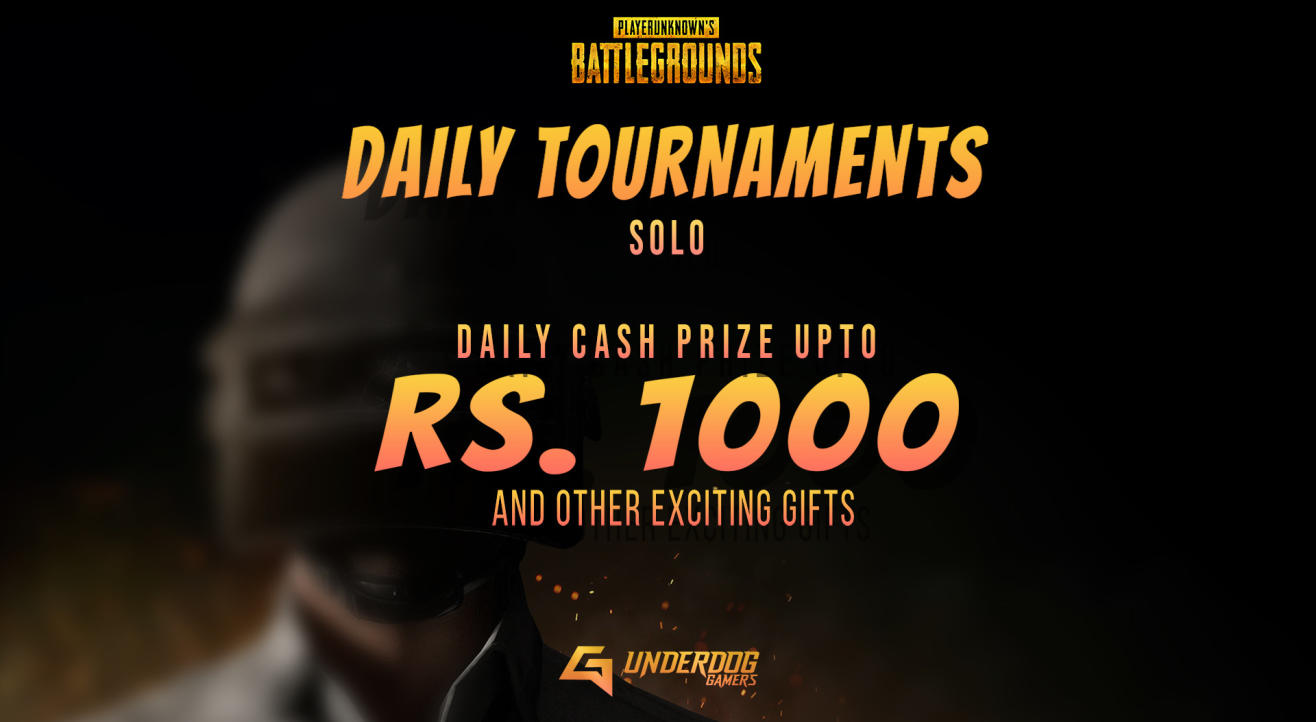 UNDERDOG GAMERS: 1st March PUBG SOLO (@10Rs)