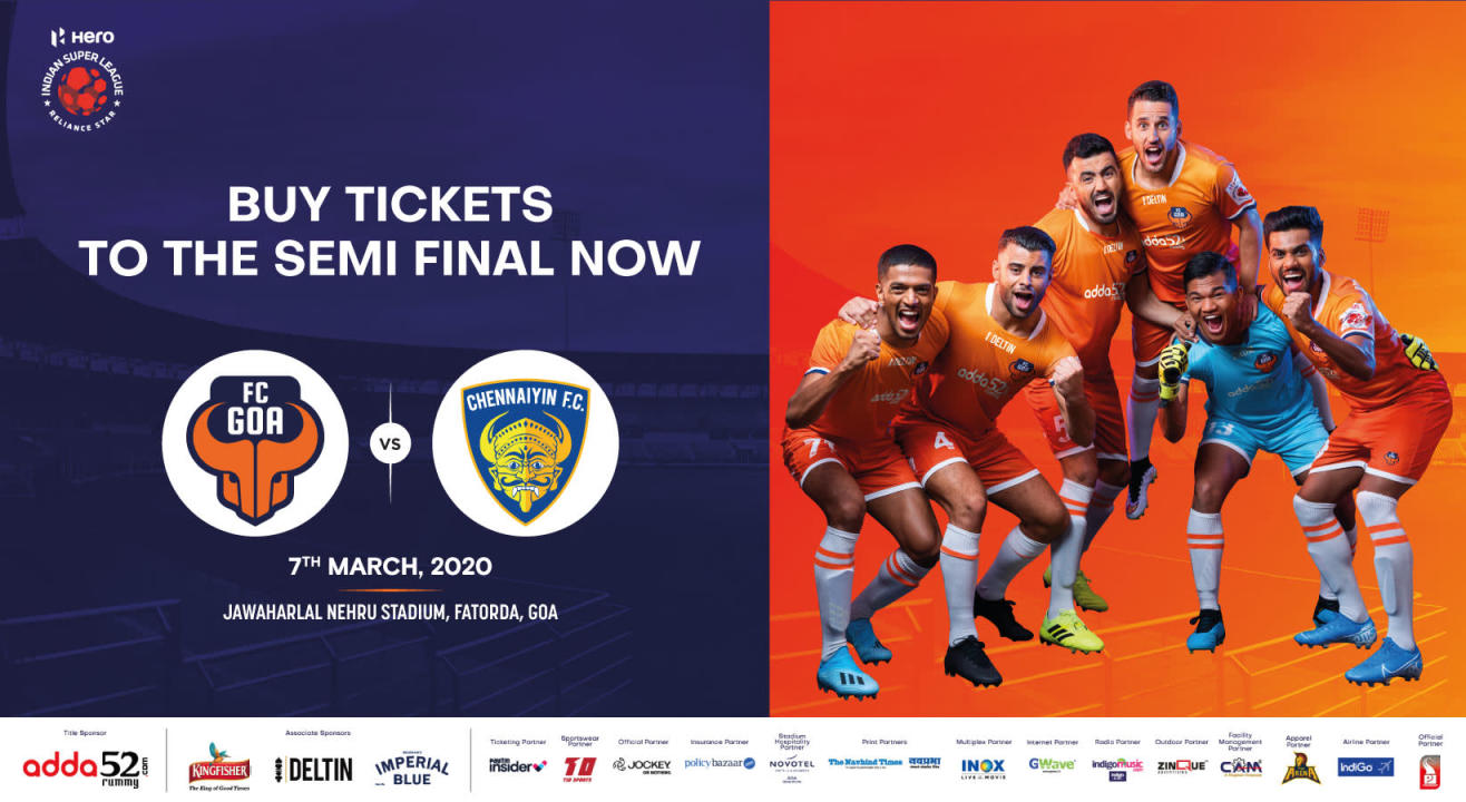 Hero Indian Super League 2019-2020: FC Goa Match Tickets, Ticket Offers, Schedule & More