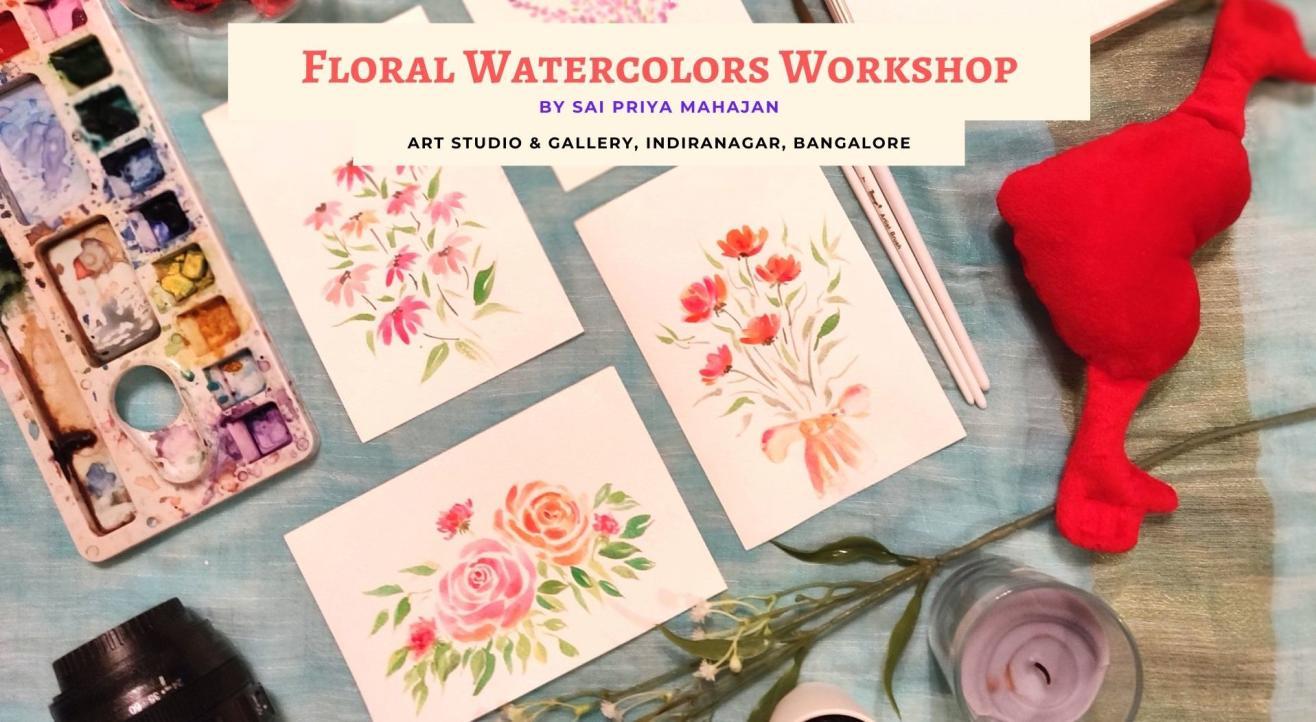 Floral Watercolors Workshop with Sai Priya Mahajan