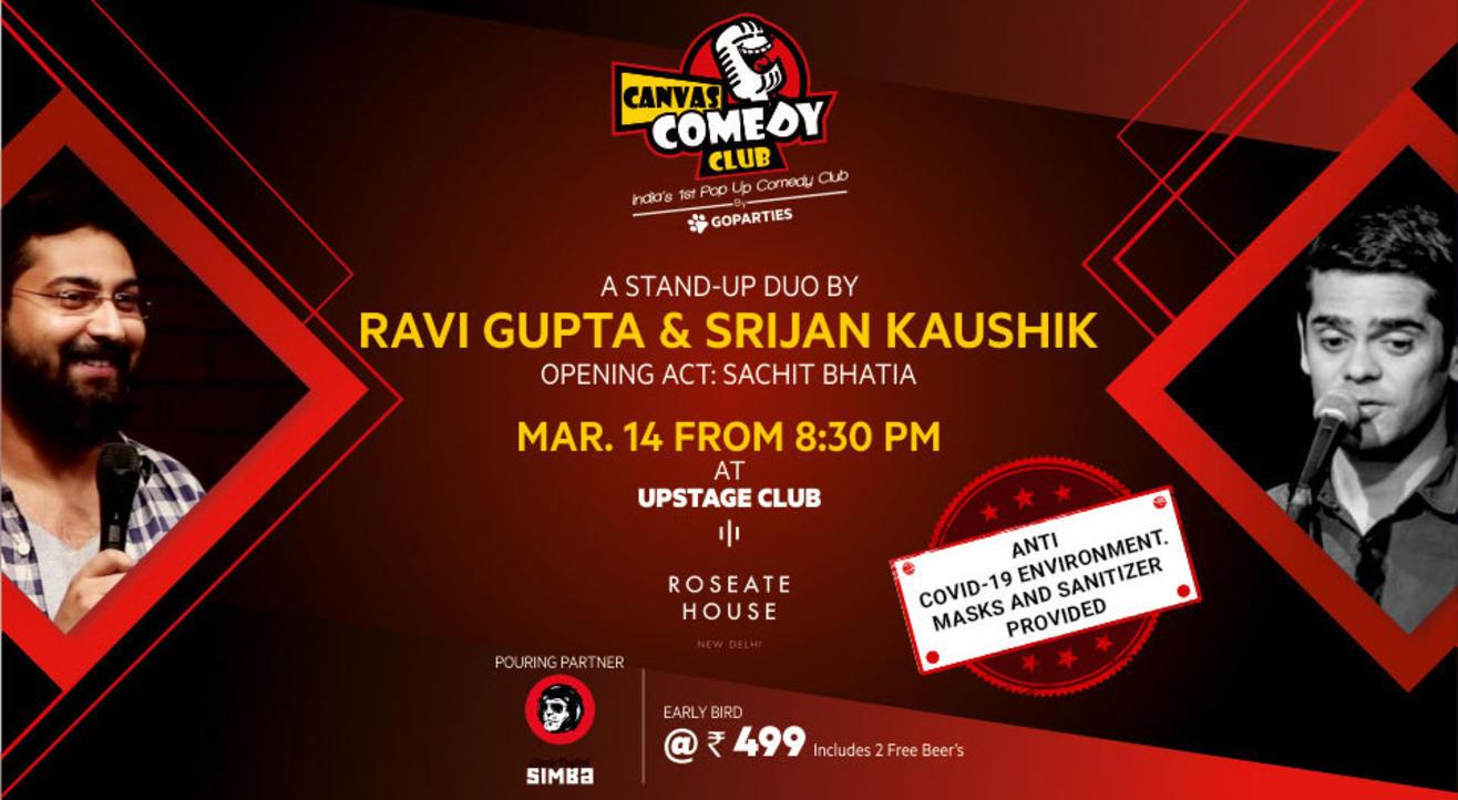 Canvas Comedy Club presents Ravi Gupta and Srijan Kaushik Live