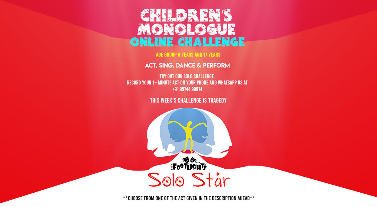 Children's Monologue Online Challenge