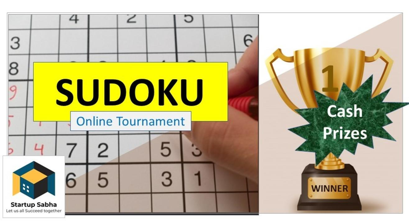 SUDOKU Online Tournament, Powered by Startup Sabha