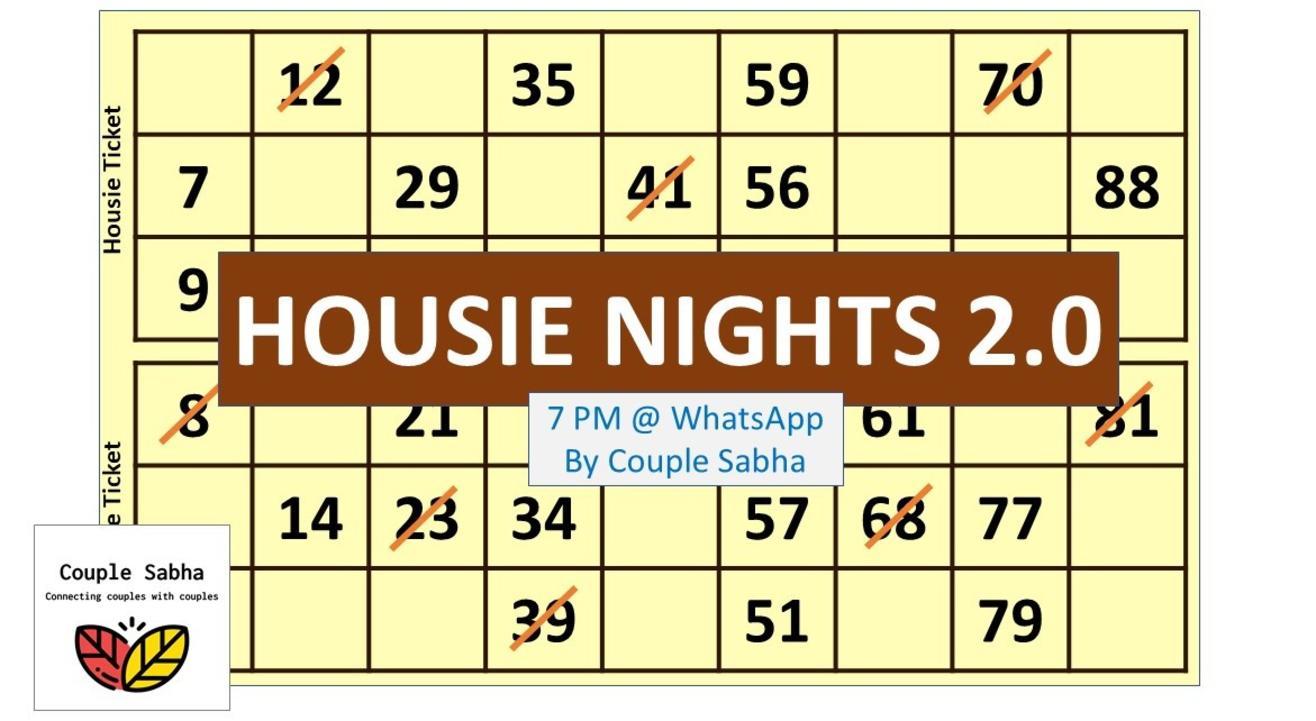 Family Housie Nights 2.0, powered by Couple Sabha