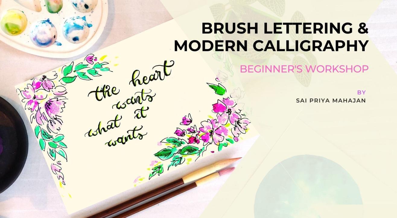 Modern Calligraphy & Brush Lettering Online Workshop