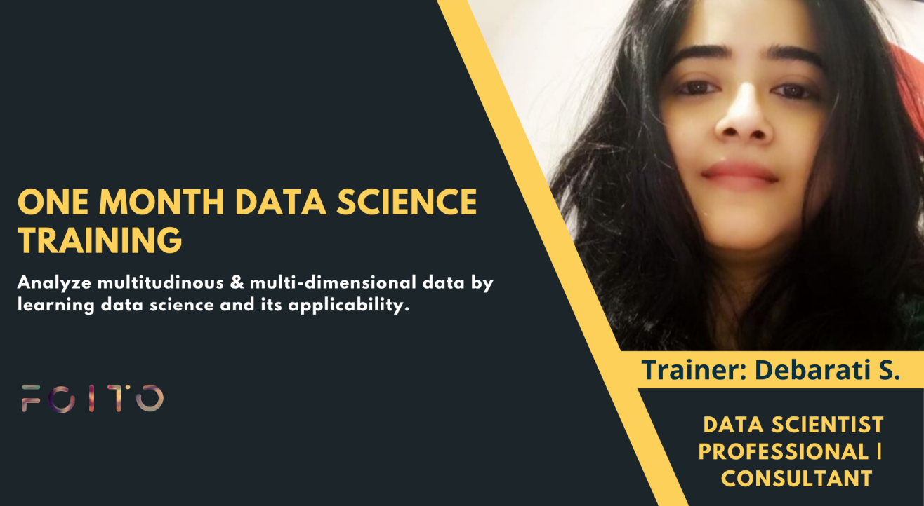One Month Data Science and Machine Learning Training