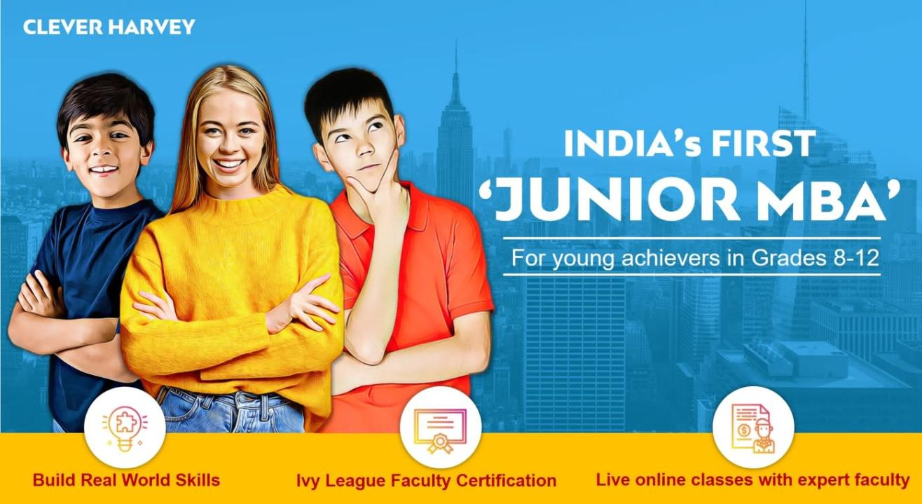 JuniorMBA - for young achievers in Grades 8 to 12 across India