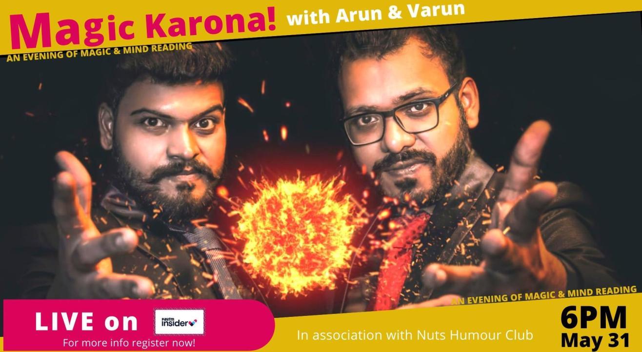 Live with Arun & Varun-The magic duo|Nuts Humor Club|