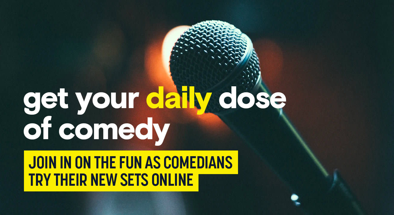 Top up your dose of comedy with online stand-up comedy events