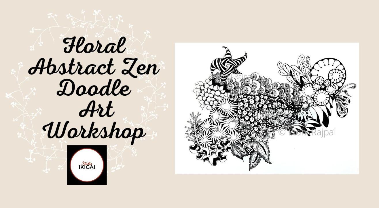 Floral Abstract Zen Doodle Workshop