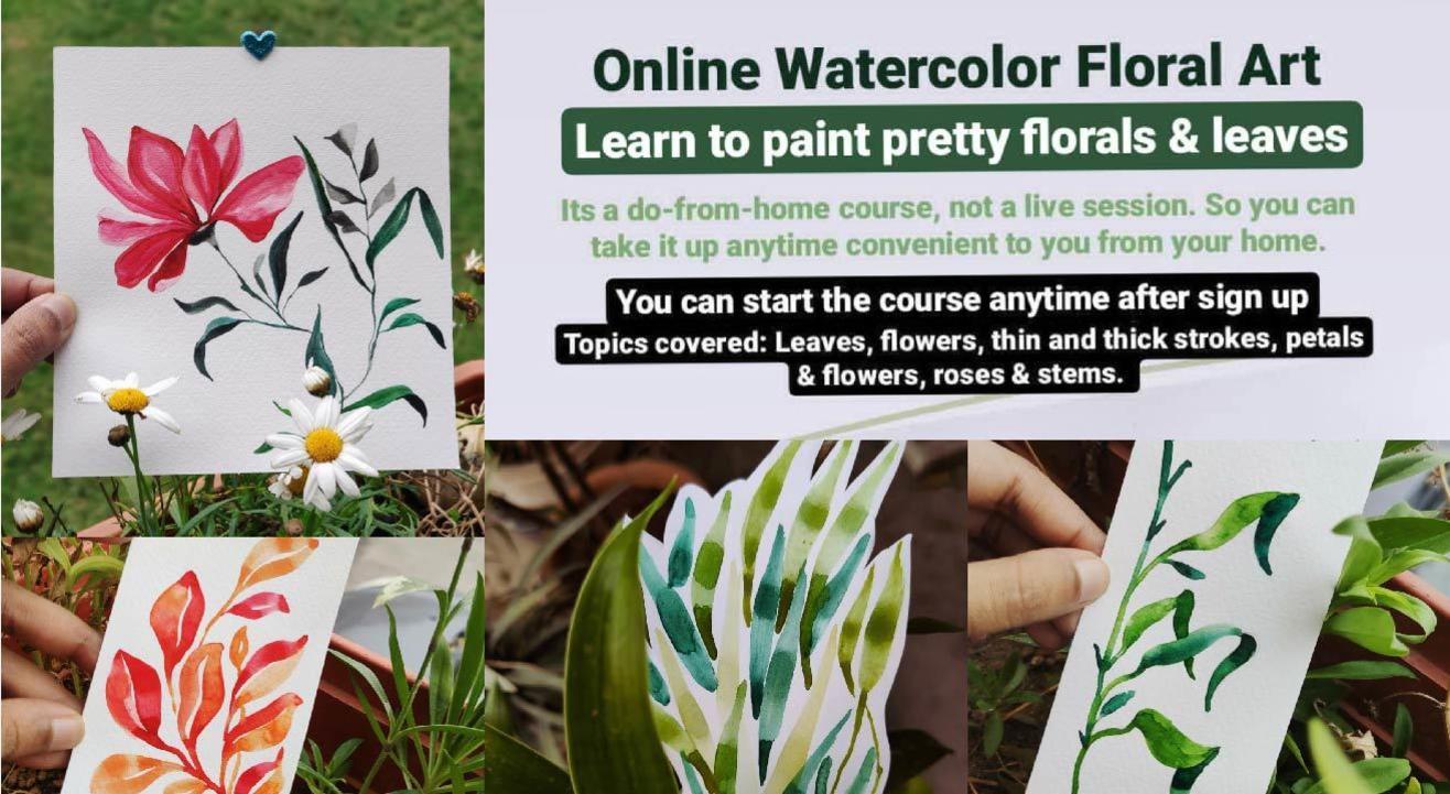 Florals Watercolor Online Course