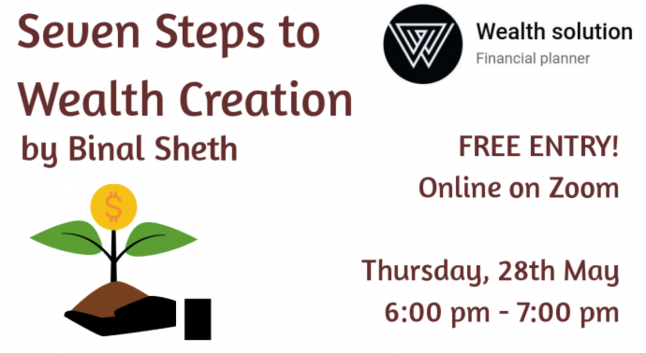 7 steps to wealth creation By Binal | Online with Doolally