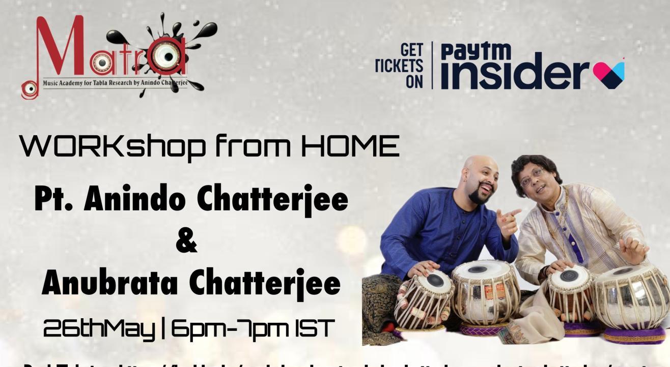 Workshop by Pt. Anindo Chatterjee & Anubrata Chatterjee