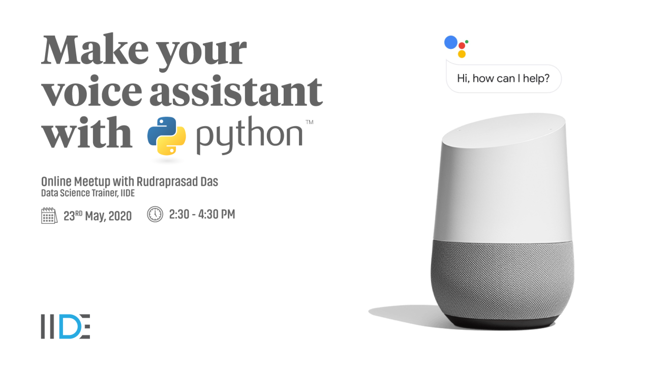 Make your voice assistant with Python