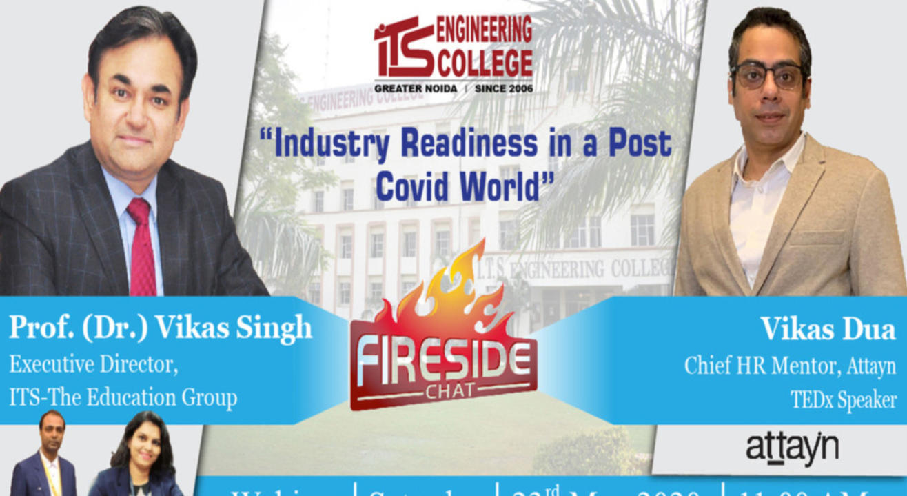 Live Webinar series at ITS Engineering College: FIRECHAT with Top HR leader