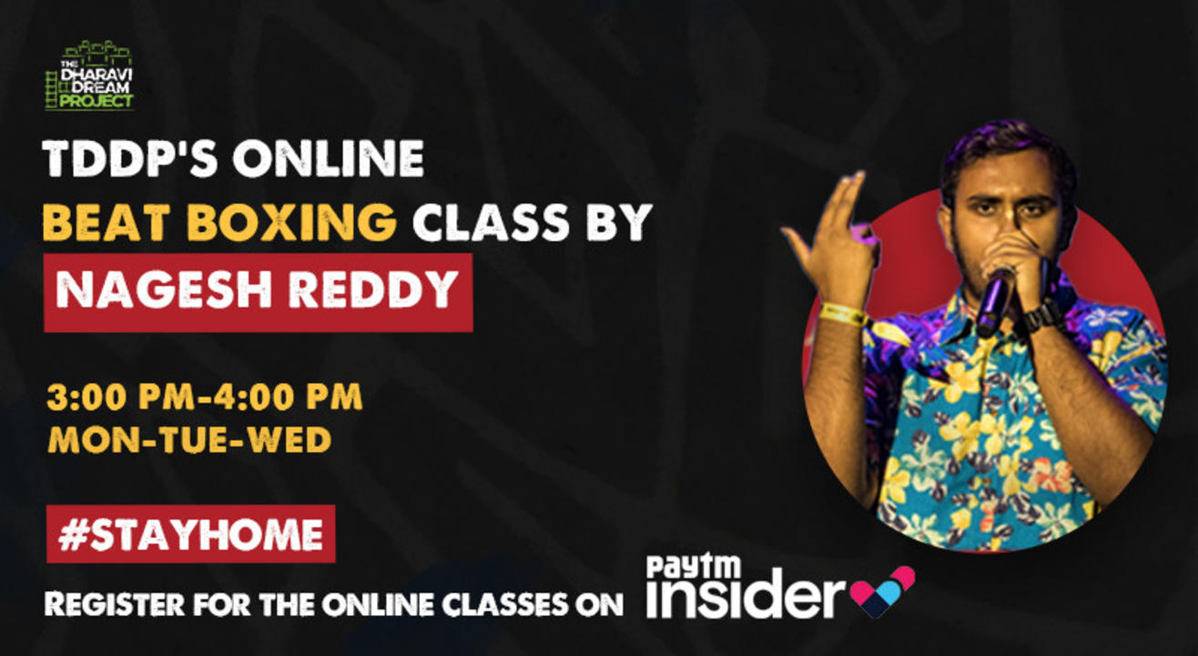 #AfterSchoolofHipHop's online Beat Boxing workshop with  Nagesh Reddy!