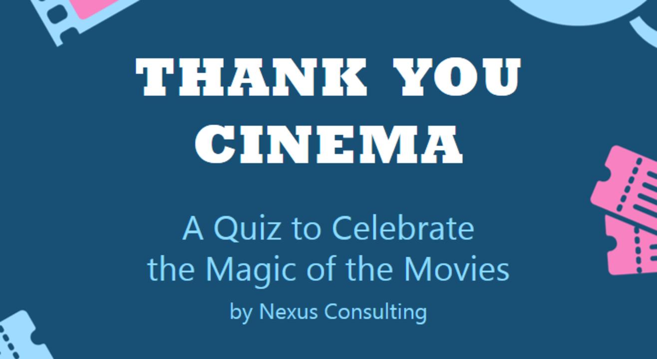 Thank You Cinema: A Quiz