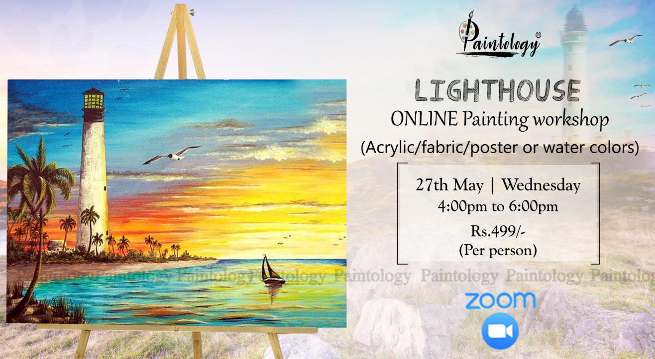 27th May - Online 'Lighthouse' Painting workshop
